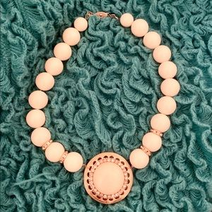 Vintage white and gold rhinestone choker necklace